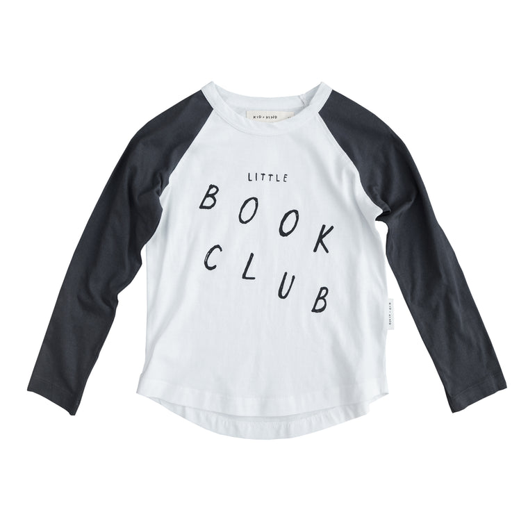 KID + KIND - Long Sleeve Raglan / Book Club (LAST ONE 6/12M)