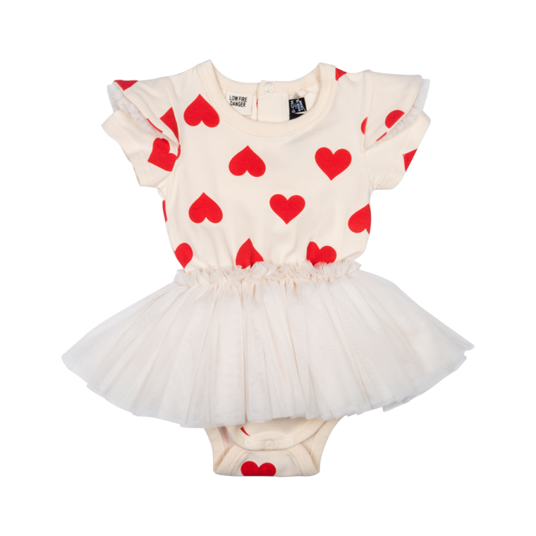 ROCK YOUR BABY - Sweetheart Circus Dress BABY / Oatmeal (LAST ONE 6/12M)