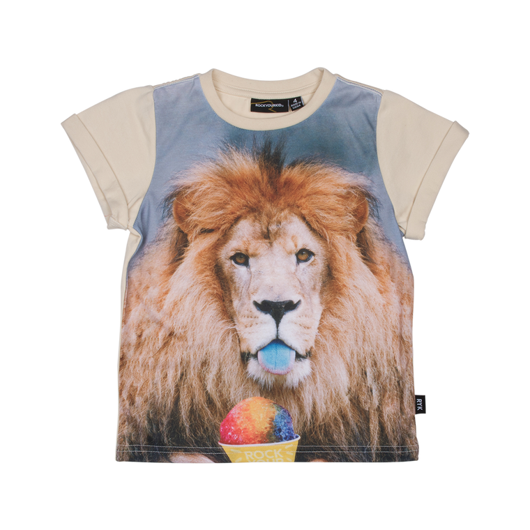 ROCK YOUR BABY - Summertime Lion Tee KIDS / Oatmeal