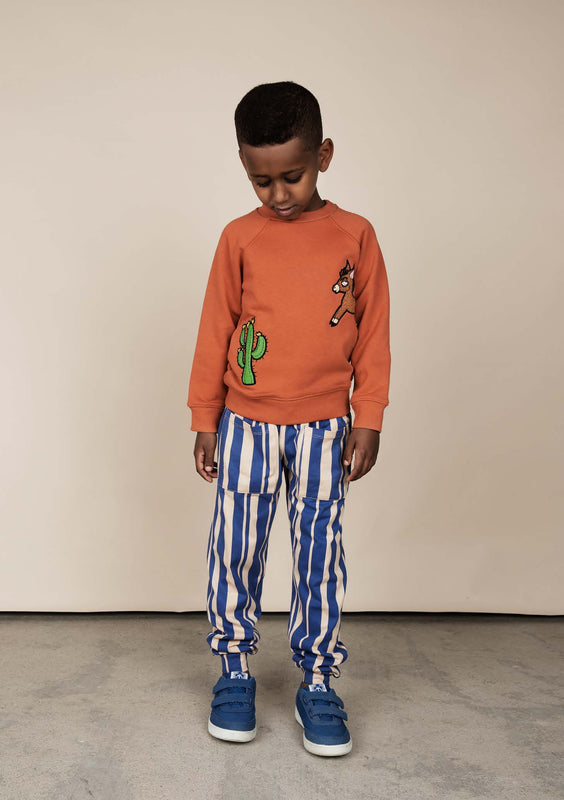 MINI RODINI - Donkey Cactus Sweatshirt / Orange