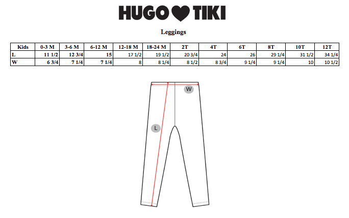 HUGO LOVES TIKI - Leggings / Blue Rainbows