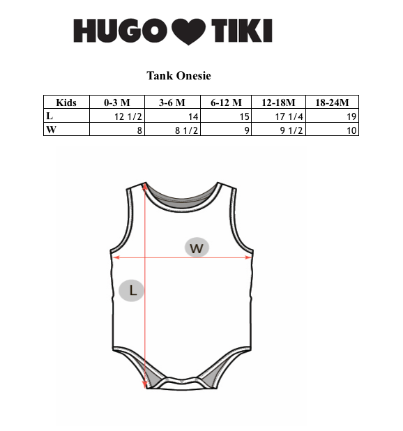 HUGO LOVES TIKI - Tank Onesie / Blue Rainbows