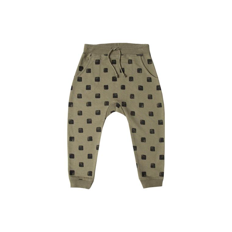 RYLEE + CRU - Checker Sweatpant / Olive
