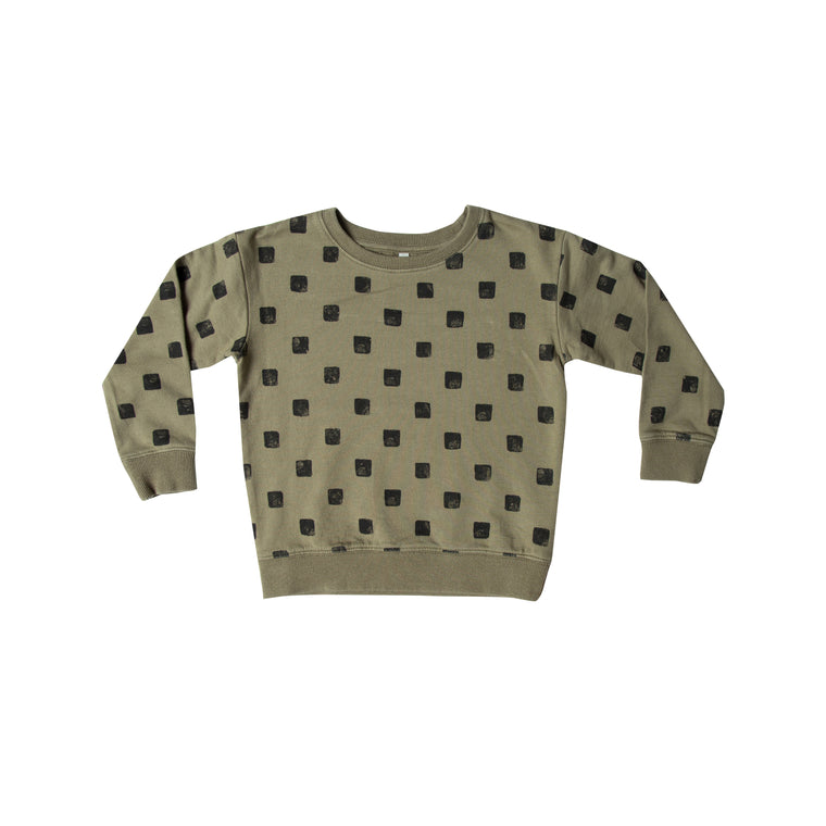 RYLEE + CRU - Checker Sweatshirt / Olive