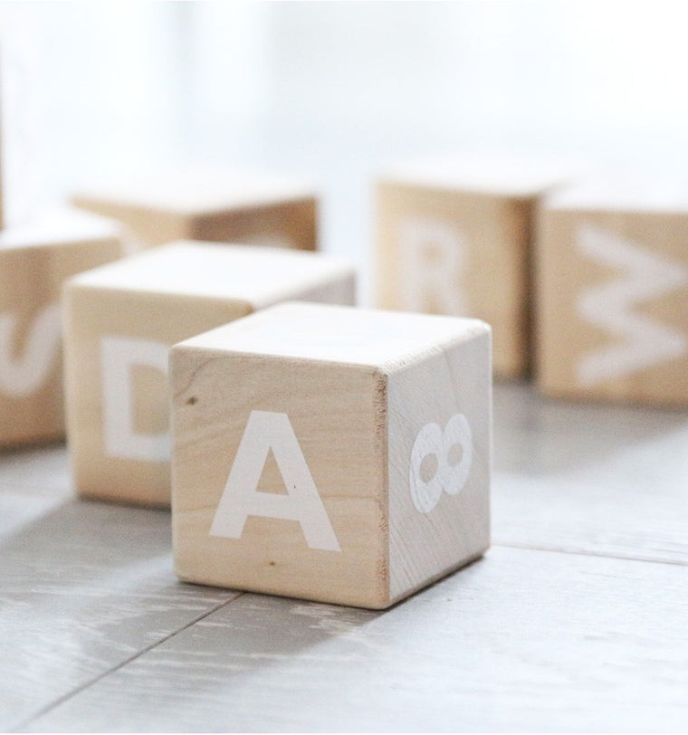 OOH NOO Alphabet Blocks / White