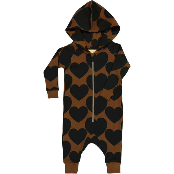 HUGO LOVES TIKI - Jumpsuit / Brown + Black Hearts