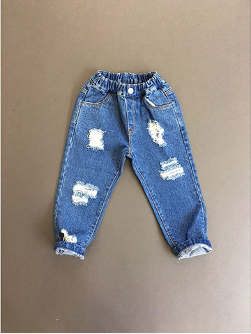 MOMO ANN - Destroyed Denim Pants