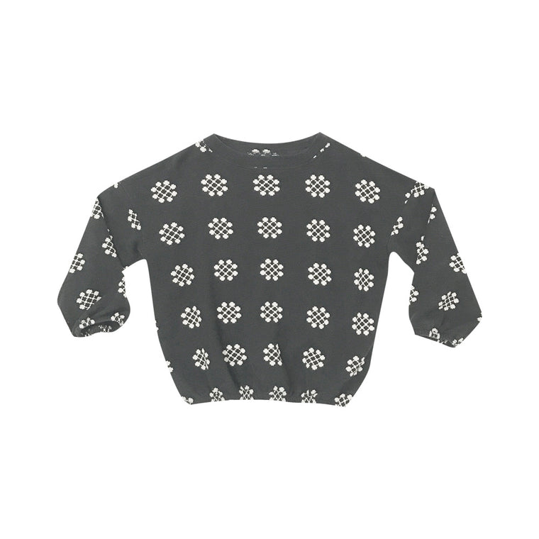 RYLEE + CRU - Medallion Knit Jumper / Charcoal