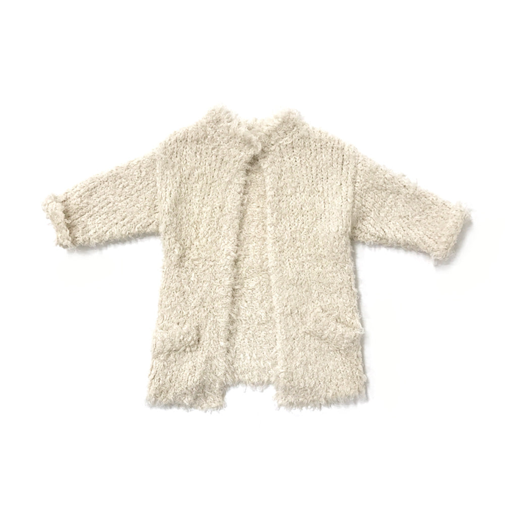 RYLEE + CRU - Furry Knit Sweater / Vanilla (LAST ONE 18/24M)