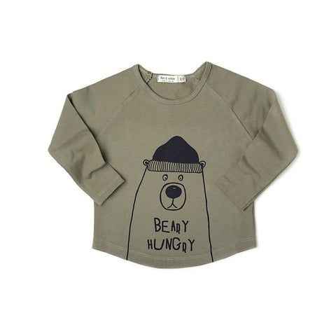 FIN & VINCE - Beary Hungry Raglan (LAST ONE 12/24M)