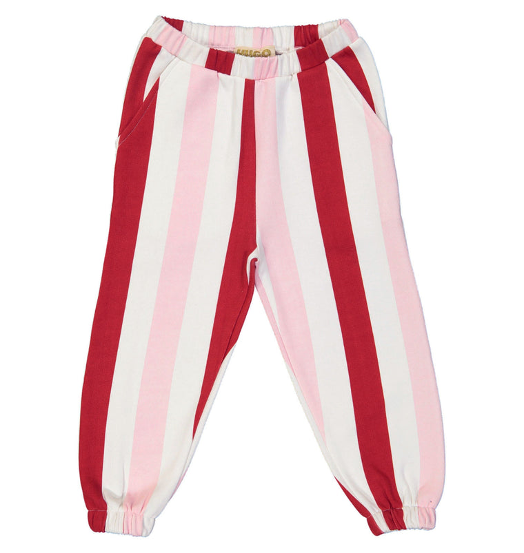 HUGO LOVES TIKI - Sweatpants / Pink & Red Stripes