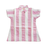 HUGO LOVES TIKI - Linen Dress / Pink Stripes