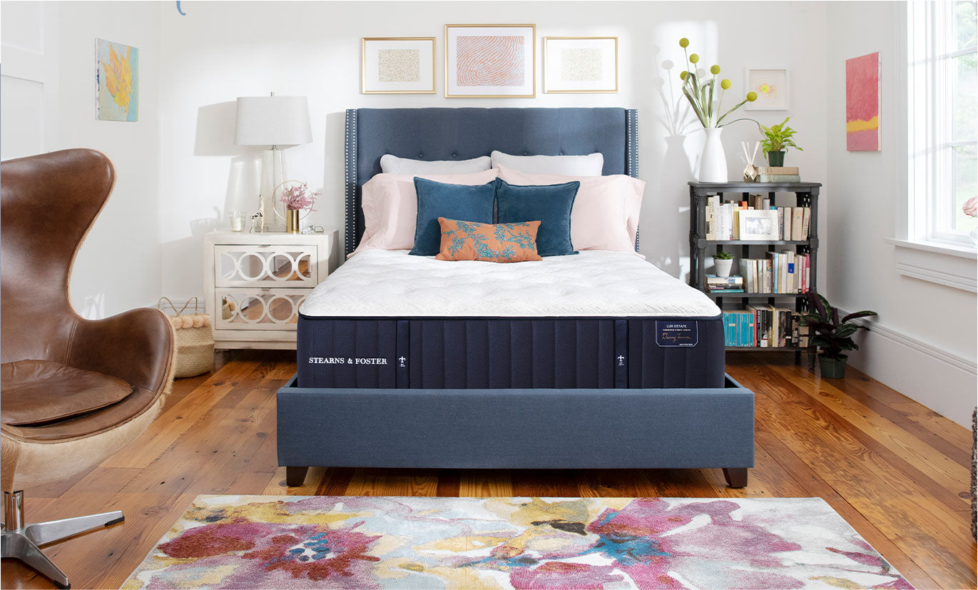 Lux Estate mattress in a styled room