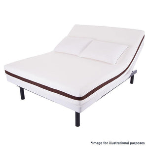 "Somos Lifestyle Plus Adjustable Base with 8"" Memory Foam Mattress Power Pack"