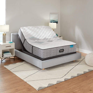 Beautyrest Harmony Lux Extra Firm Mattress In Bedroom On Adjustable Base