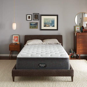Beautyrest Silver Plush Pillowtop Mattress In Bedroom