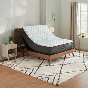 Beautyrest Harmony Cocoa Beach Extra Firm Mattress In Bedroom On Adjustable Base