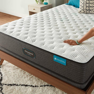Beautyrest Harmony Cocoa Beach Extra Firm Mattress In Bedroom Fabric Detail