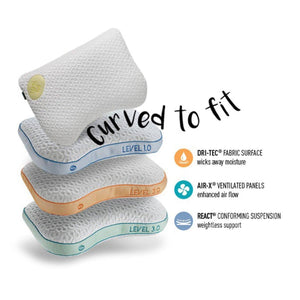 Bedgear Level 0.0 Performance Pillow Series With Description