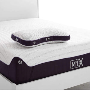 Bedgear M1X Pillow 1.0 On Mattress