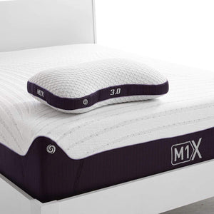 Bedgear M1X Pillow 3.0 On Mattress