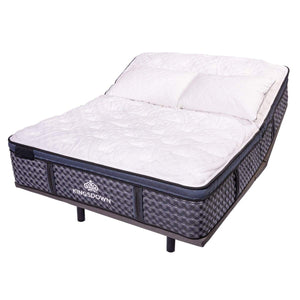 Kingsdown Stratton Ultra Euro Hybrid Mattress On Adjustable Base