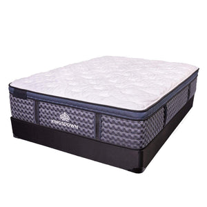 Kingsdown Stratton Ultra Euro Hybrid Mattress On Box Spring
