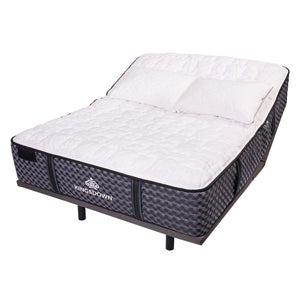 Kingsdown Sloane Ultra Plush Hybrid Mattress On Adjustable Base
