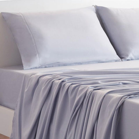 Mattress_Warehouse_BedGear_Basic_Sheet_Set_Frost_CloseUp
