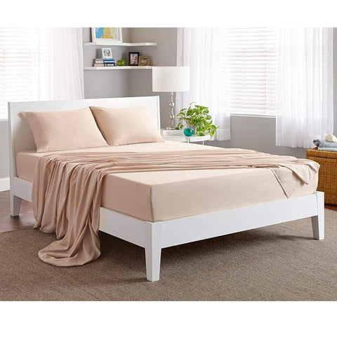 Mattress_Warehouse_BedGear_Basic_Sheet_Set_Sand_Beauty