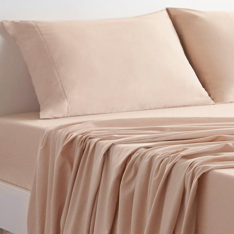 Mattress_Warehouse_BedGear_Basic_Sheet_Set_Sand_CloseUp