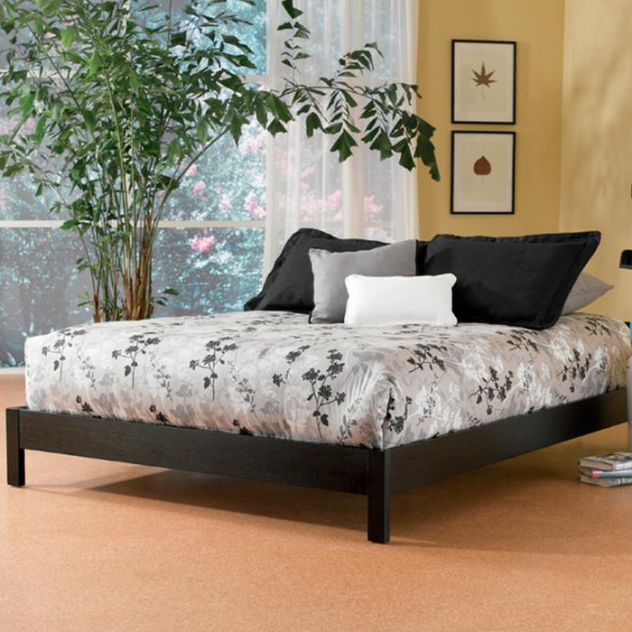 Black Murray Platform Bed by Fashion Bed with 8 Inch Memory Foam Mattress