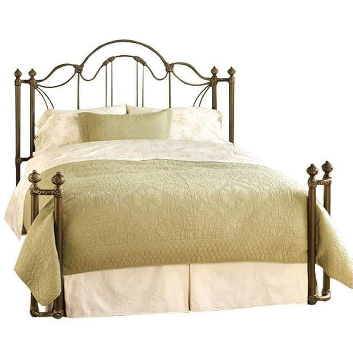 Marlow Bed in Golden Brown Finish by Wesley Allen