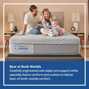 Sealy Hybrid Fendler Medium Mattress In Bedroom Family Relaxing On Bed
