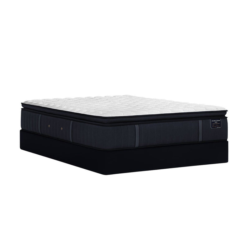 Stearns & Foster Hurston Luxury Firm Euro Pillow Top Mattress And Boxspring Angle