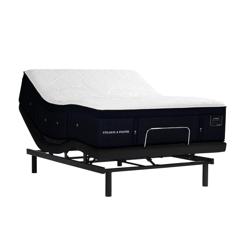 Stearns & Foster Pollock Luxury Ultra Plush Mattress on an Adjustable Base