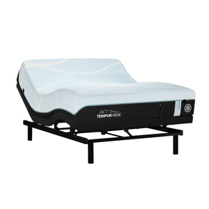 TEMPUR-PROBREEZE° MEDIUM HYBRID MATTRESS ON AN ADJUSTABLE BASE