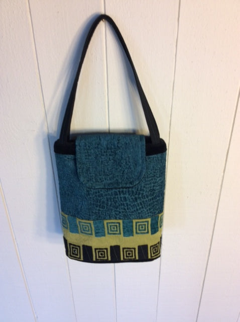 Turquoise Domino Purse