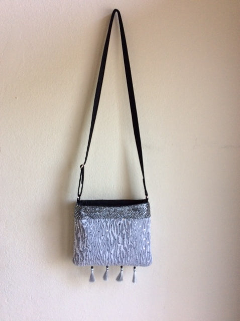 Silver Sparkle Cross-Body Purse