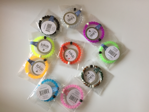 "Hot Lokai Bracelet in Yellow, Green, Purple, Black, Orange, Camo, Pink, Clear, Blue, Red Silicone Bead Bracelet "" FREE SHIPPING """