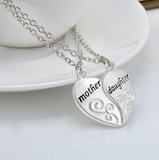 "Beautiful Mother Daughter Necklace Heart Love Mom Necklaces & Pendants "" FREE SHIPPING """