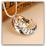 "High Quality! Mom - I Love You to the Moon and Back Necklace for Mother's Day ""FREE SHIPPING"""