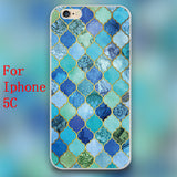 Cobalt Blue, Aqua & Gold Decorative Moroccan Tile Pattern Design  Cases for iphone 4 4s 5 5c 5s 6 6s 6plus hard shell * FREE SHIPPING *