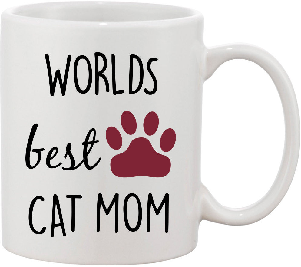 Mother's Day Gift, Worlds Best Cat Mom Coffee Mug. Gift for Mother for Mothers Day. Mom From Daughter. Gift for Mom. Cat Lover Mug, Mom Cup