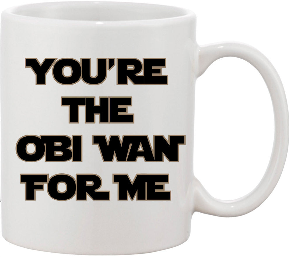 Valentines Gift for Men, You're the Obi Wan for Me Coffee Mug. Valentines Gift for Boyfriend, Valentines Gift for Him, Obi Wan Mug. Husband