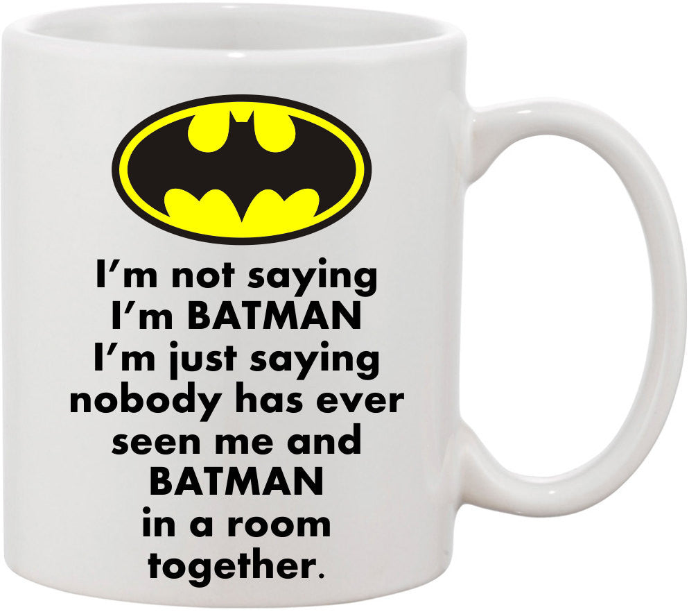 Batman Coffee Mugs, Funny Coffee Mugs, Batman Mug, Batman Fans, Superhero Mug, Gift for Him, I'm Batman Mug, Birthday gift with Batman Logo