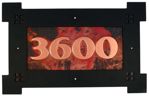 Copper Address Signs
