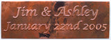 """Wedding Names"" Copper Anniversary Sign"