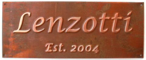"""Name""  Copper Anniversary Sign"
