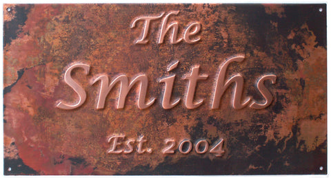 """The Name"" Copper Anniversary Sign"